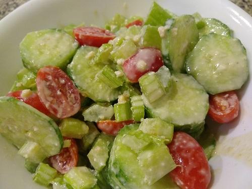 Cucumber Caesar Salad